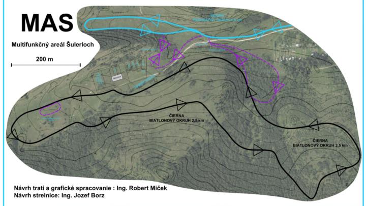 Zámer s areálom a biatlonovou bežeckou trasou