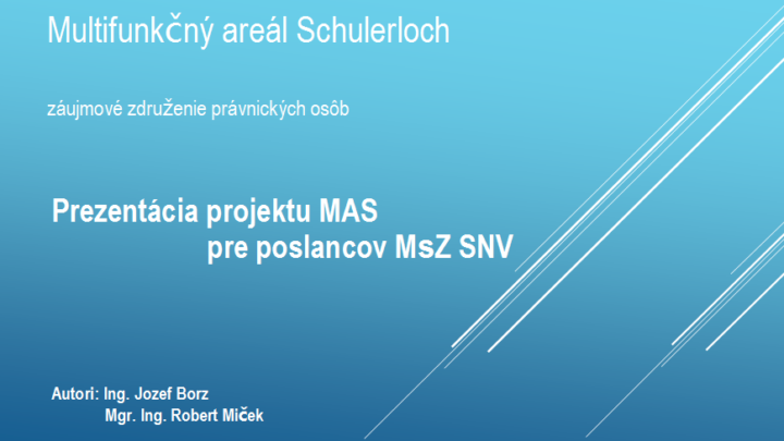 Prezentácia MA Schulerloch
